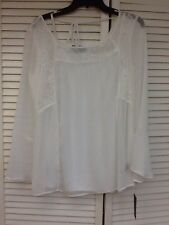 Pullover, Romantic 2 pc.Chic Boho lace and chiffon top and cami, Size M, AGB,NWT