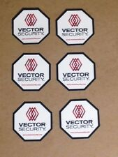 6 - Vector Security Window Decals