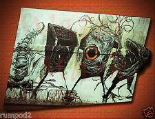 Graffiti Art Print/Poster/weird owl/fish /Urban Art/Street Art/Abstract 17x22in