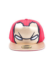 OFFICIAL MARVEL COMICS - IRON MAN MASK (FOIL PRINT) RED SNAPBACK CAP (BRAND NEW)
