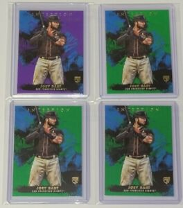 2021 Inception Joey Bart Giants RC Purple Variation SP /150 LOT of (4) GIANTS RC