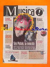 rivista MUSICA! REPUBBLICA 49/1996 Sex Pistols Thorn & Ben Cowboy Jukies No*cd