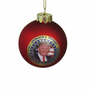 DONALD J. TRUMP 45th President Glass Ball Ornament, 80mm, by Kurt Adler