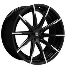 "4ea 24"" Lexani Wheels CSS-15 Black w Machined Tips Rims (S1)"