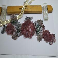 2pcs/lot 3D wine flower patches  Embroidery Lace patch Sewing Lace Applique