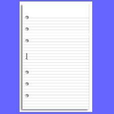 Filofax Personal Insert White Ruled Note Paper Refill 133008