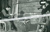 Annathal - Bauer beim Rechen bauen - Mauth - Niederbayern  wohl um 1960 - S 25-9