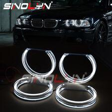 LED Acrylic DTM Style Angel Eyes Halos For BMW E46 Xenon Projector Headlight DRL