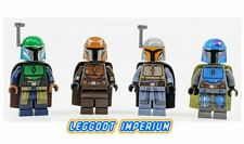 Lego Minifigure Star Wars - Mandalorian Warrior - green grey orange blue Disney