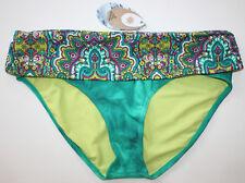 prAna Blue Women's Size XS Bikini Bottom Floral Swimwear #572