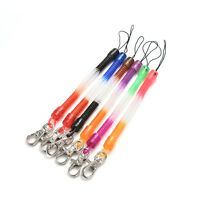 2X Retractable Plastic Spring Coil Spiral Stretch Keychain Ring Chain Keyring_hc