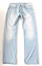 Men's JACK & JONES GATE Button Fly Straight Leg Blue Denim Jeans Size W33 L33