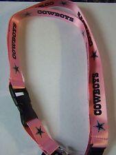 Dallas Cowboys Pink  Deluxe Lanyard