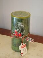 "NEW W TAG  PIER 1 holiday forest scent christmas winter 6 "" TALL pillar candle"