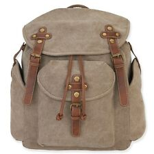 Cargo It Khaki Tan Backpack Unisex Carry Drawstring Tech Pocket Travel Bag New