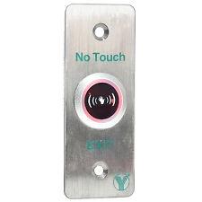 Infrared Sensor Door Release Stainless Steel Exit Button Switch For Hollow Door.