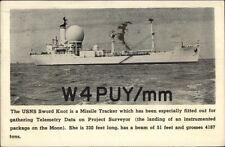 USNS Naval Ship Sword Knont Missile Tracker 1960s Postcard