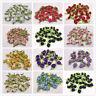 100 Ribbon Rose DIY Wedding Flower Satin Decor Bow Appliques Craft Sewing Leaves