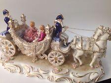 "Stunning Porcelain Ireland Dresden "" Fairytale Coach "" 87/500 Ltd Edition"