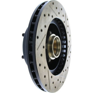 Disc Brake Rotor-Sport Drilled/Slotted Disc Front Right Stoptech 127.62000R