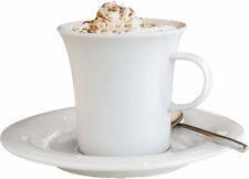 6 x Kaffeetassen mit Untertassen Kelchform Seltmann Weiden SAVOY Gastro Tasse