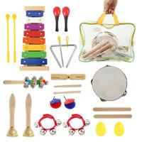 22X bois enfant instrument musique jouet éducation préscolaire percussion + sac