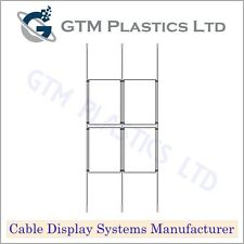 Cable Window Estate Agent Display - 2x2 A4 Portrait - Suspended Wire Systems