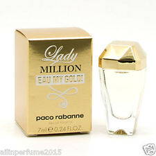 Lady Million Eau My Gold by Paco Rabanne 7 ml Eau De Toilette Mini for Women