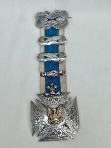 Fine 1904 Solid Silver Sons of Phoenix Temperance Jewel.