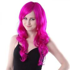 NEW IN PKG PINK MAGENTA Women's Long Wavy Wig 24 in. Glam Hair for Halloween