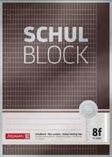 BRUNNEN Schulblock A4 Premium 50 Blatt, gelocht, Lineatur 8f