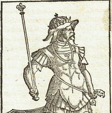 Xilografia Sebastian Münster Guerriero XVI secolo