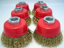 """(6 pack) 2.5"""" Cup Brush Wire M10x1.25 angle grinder m10"""