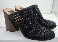 Dolce Vita- Boston Woven Block heel Mules, Women's Size 8 Black