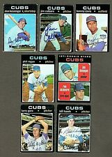 Lot of (8) 1971 Topps Chicago Cubs Signed Baseball Cards (Inv.#137)