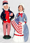 Byers Choice Betsy Ross & Uncle Sam Carolers - New - Free Priority Shipping