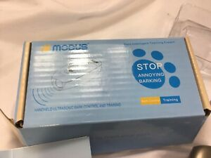 MODUS M-230 Black 2-in-1 Ultrasonic Bark Control Device and Training Aid for...
