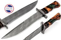 Damascus Knife Handmade Hunting Knife Bowie 15 inch Resin Handle MBE841