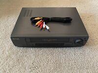 Sharp VC-A542U VCR 4 Head Hi-Fi VCR VHS Player Video Cassette Recorder w/ Cables
