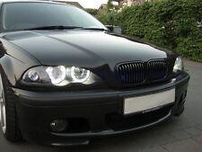 FARI ANGEL EYES CCFL NEON+FRECCE BMW SERIE 3 E46 BERLINA/TOUR. CROMO/NERI 98-01