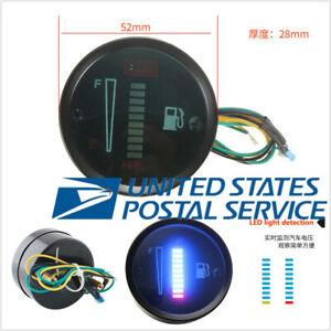 """2"""" 52mm Round 12V Car Fuel Level Meter Gauge 10LED Digital Display"""
