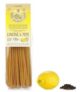 Morelli Organic pasta Linguine Lemon/Black Pepper- 3 bags x 250gr (8.8oz)