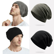 Mens Summer Breathable Slouch Beanie Thin Stretch Cap Skullcap Hat Headwear New