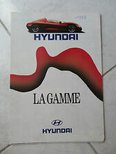 Hyundai Pony Lantra Scoupe gamme 1993 - catalogue dépliant brochure prospekt