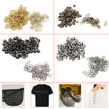 100pcs 4mm Eyelets Grommets with Washers Leather Craft Banners Belt Shoes Canvas