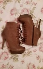 LUXURY REBEL RICKI Mouse Leather Lace Up Platform Ankle Boot 6 EUR 36  + dustbag