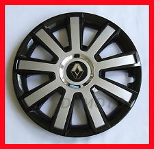 "15 ""  Wheel trims for Renault  4 x15"" black silver universal"