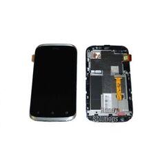 HTC Desire X Proto LCD Display Screen Rahmen Defekt Reparatur Original silver