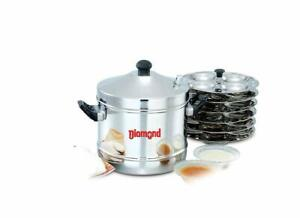 Diamond Idly Cooker Flat Base Idly Pot Idly Maker Gas and Induction Compatiable