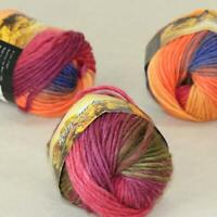 Sale 3 Balls x50g New Knitting Yarn Chunky Colorful Hand Wool Wrap Scarves 27